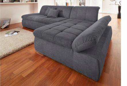 Brūns stūra dīvāns miksts