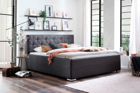 Upholstered bed 180x200 - Chicago with bed slat