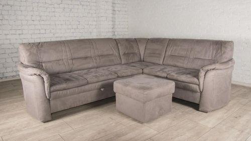 Stūra dīvāns XL - Hugo ar pufu (Izvelkams)