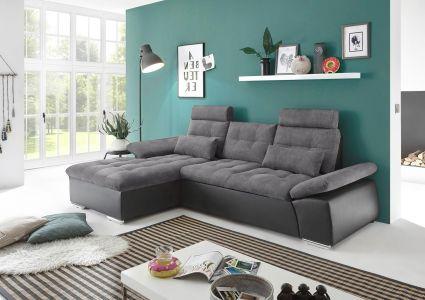 Stūra dīvāns ar austu audumu