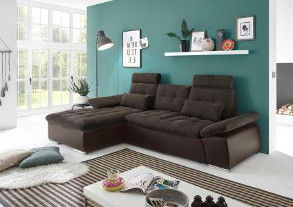 Tumši brūns dīvāns