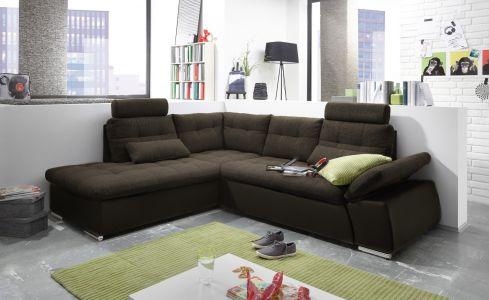 brūns stūra dīvāns