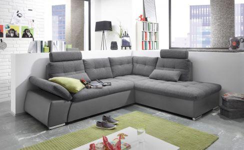 Stūra dīvāns XL - Jakarta (Izvelkams ar veļas kasti)
