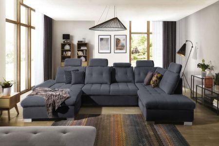 u formas dīvāns cremona ar regulējamiem muguras balstiem