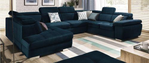 U-образный диван - Rosso (Pаскладной с ящиком для белья)