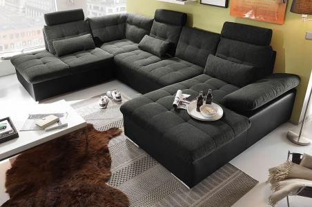 U Formas dīvāns austs audums