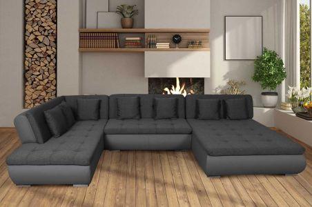 liels u formas dīvāns pool