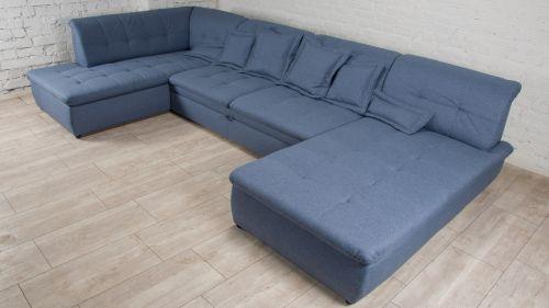 Dīvāns ar diviem stūriem bez spilveniem