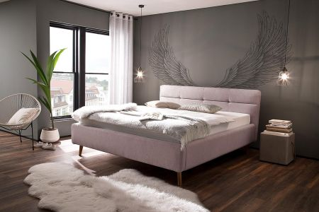 Upholstered bed - Lotte (with laundry compartment)