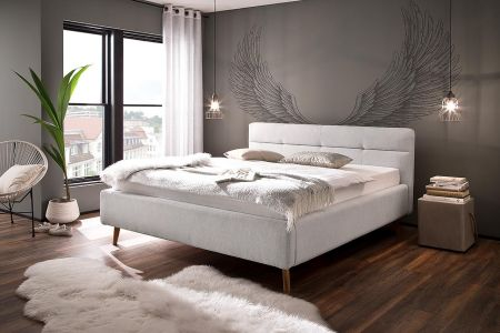 Upholstered bed 160x200 - Lotte (with laundry compartment)