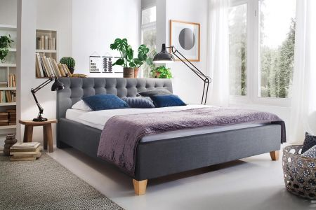 Upholstered bed 140x200 - Lucca