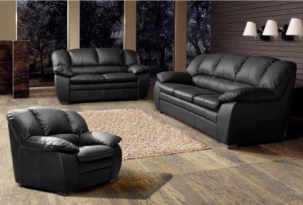 Dabīgs ādas dīvānu komplekts