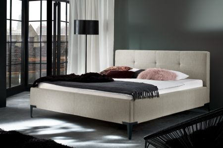 Upholstered bed 160x200 - Modern Time with bed slat
