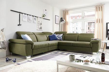 Zaļš stūra dīvāns