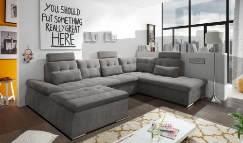 U formas dīvāns pelēks
