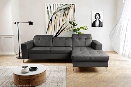 Stūra dīvāns - Paula (Izvelkams ar veļas kasti)