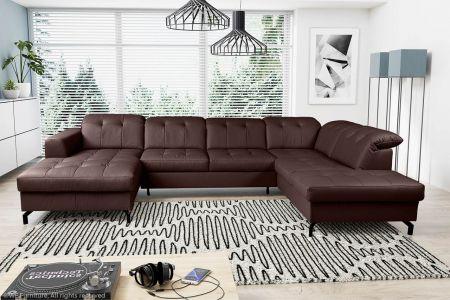 U formas dīvāns - Paula (Izvelkams ar veļas kasti)