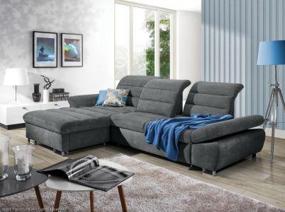 Угловый диван - Roma (Pаскладной с ящиком для белья)