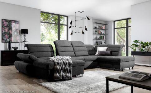 Tumši peleks u formas dīvāns