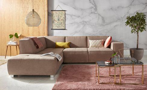 Pelēks stūra dīvāns