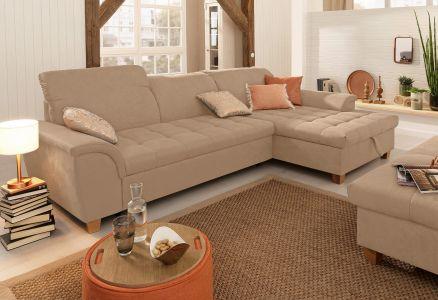 Угловый диван - Lyla (Pаскладной с ящиком для белья)