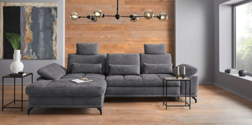 Stūra dīvāns - Costello (Izvelkams ar veļas kasti)