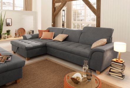 Stūra dīvāns - Lyla (Izvelkams ar veļas kasti)