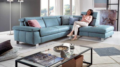 Stūra dīvāns zils