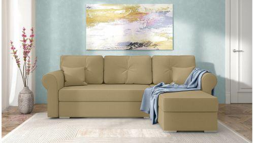 Stūra dīvāns - Ofanto (Izvelkams ar veļas kasti)