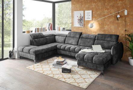 U formas dīvāns - Togo (Izvelkams ar veļas kasti)