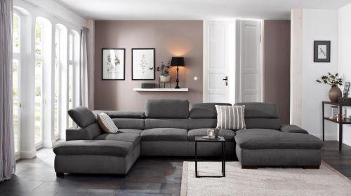 Jauns u formas divans ar labu audumu