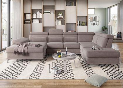 U formas dīvāns - Cabrio (Izvelkams ar veļas kasti)