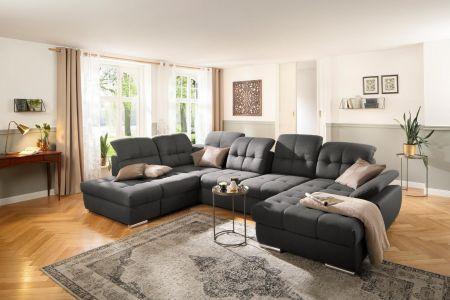 u formas dīvāns liels