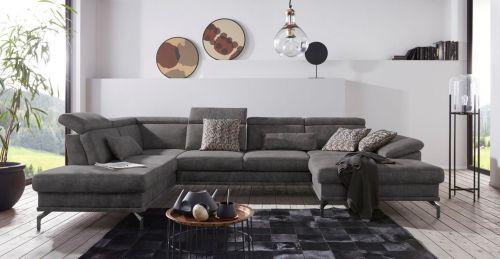 U formas dīvāns ar labu audumu