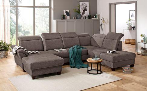 u formas dīvāns brūns