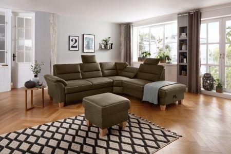 Stūra dīvāns XL - Soleo (Izvelkams ar veļas kasti)