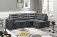 dabīgas ādas stūra dīvāns