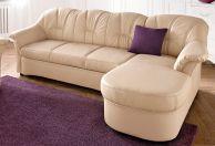 ādas stūra dīvāns