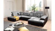 U formas dīvāns - Neapel U (Izvelkams ar veļas kasti)