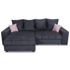 Stūra dīvāns - Ella (Izvelkams ar veļas kasti)