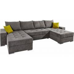 U formas dīvāns - Josy 2 (Izvelkams ar veļas kasti)