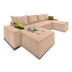 U formas dīvāns - Josy1 (Izvelkams ar veļas kasti)