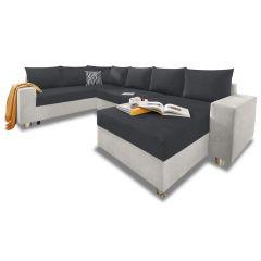 U formas dīvāns - Paris (Izvelkams ar veļas kasti)