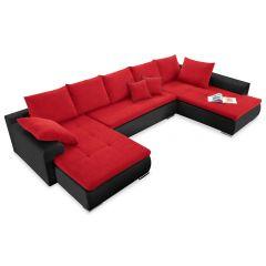 U formas dīvāns - Vamos (Izvelkams ar veļas kasti)
