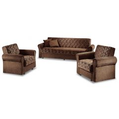 Dīvānu komplekts 3-1-1 - Star (Izvelkams ar veļas kasti)