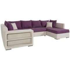 U formas dīvāns - Johny Pur (Izvelkams ar veļas kasti)