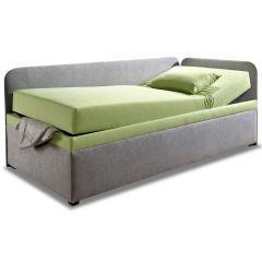 Polsterēta gulta 90x200 - Studiolige (ar veļas kasti)