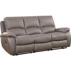 Ādas Trīsvietīgs dīvāns - Fun