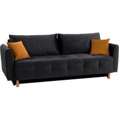 Trīsvietīgs dīvāns - Nordic metallic (Izvelkams ar veļas kasti)
