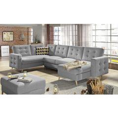 U formas dīvāns - Asgard (Izvelkams ar veļas kasti)
